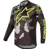 2020 Alpinestars Racer TACTICAL Black Grey Camo Flo Yellow Motocross Jersey